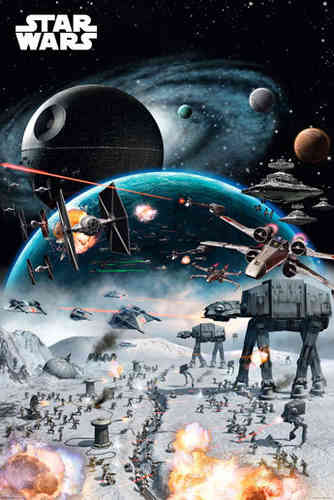 Star Wars' -  Battle - V - Maxi Paper Poster