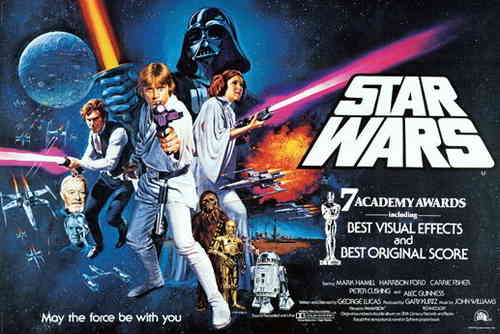 "Star Wars' - ""May the force be with you"" - H Maxi Paper Poster"