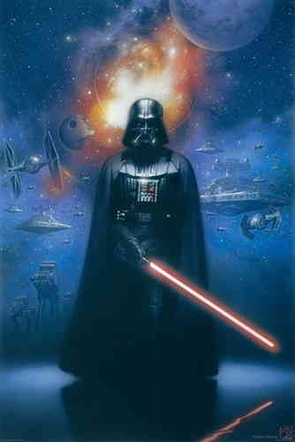 Star Wars' - Darth Vader - Lightsaber - V Maxi Paper Poster