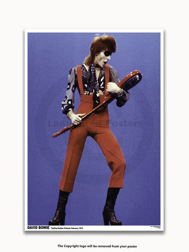 David Bowie 1974 - A1 Laminated Rock Poster