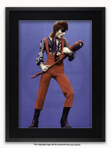 Framed with BLACK mount David Bowie 1974 - A1 Rock Poster