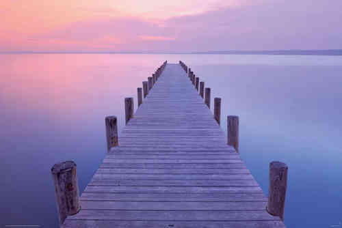 Jetty Sunrise Blue - Maxi Paper Poster