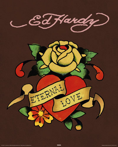 Ed Hardy - Eternal Love - Mini Paper Poster