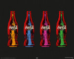 Coca Cola - Pop Art, 4 Bottles - Mini Paper Poster
