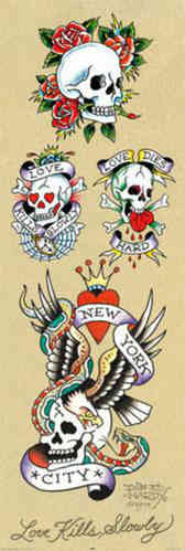 Ed Hardy, Skull Collection - Door Paper Poster