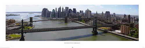 New York Manhattan Bridge - Door Paper Poster