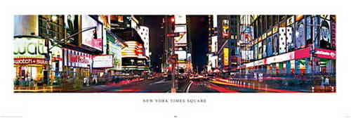 New York Times Square Colour - Door Paper Poster