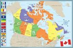 Modern Map Of Canada - Maxi Paper Poster