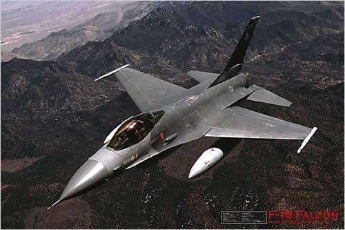 F-16 Fighting Falcon Aeroplane - Maxi Paper Poster