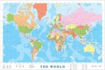 Modern Map Of The World - Maxi Paper Poster
