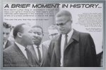 Martin Luther King & Malcom X - A Brief Moment in History - Maxi Paper Poster