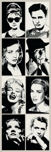 Hollywood Icons - Door Paper Poster
