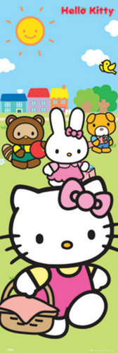 Hello Kitty Picnic - Door Paper Poster
