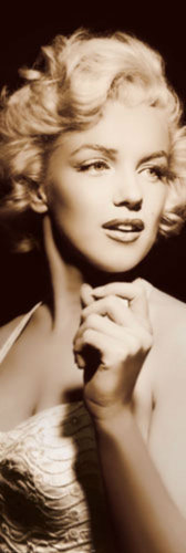 Marilyn Monroe Spotlight - Door Paper Poster