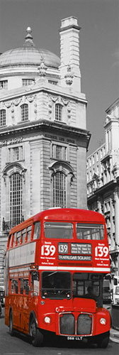 London Red Bus No 139 Trafalgar Square - Door Paper Poster