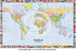 World Political Map Flags - Giant Paper Poster