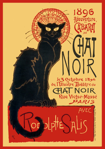 Chat Noir French Art - Giant Paper Poster
