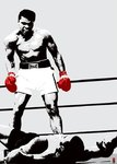 Muhammad Ali Pop Art (Gloves) - Giant Paper Poster