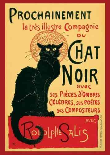 Chat Noir French Art 2- Giant Paper Poster