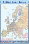 Map of Europe with Flags - Paper Poster
