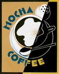 Mocha Coffee - Mini Paper Poster