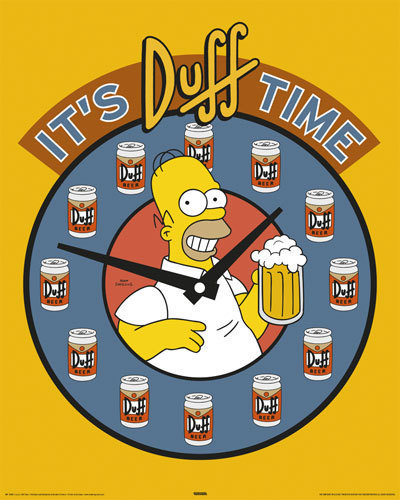 Simpson's - Homer Duff Time - Mini Paper Poster
