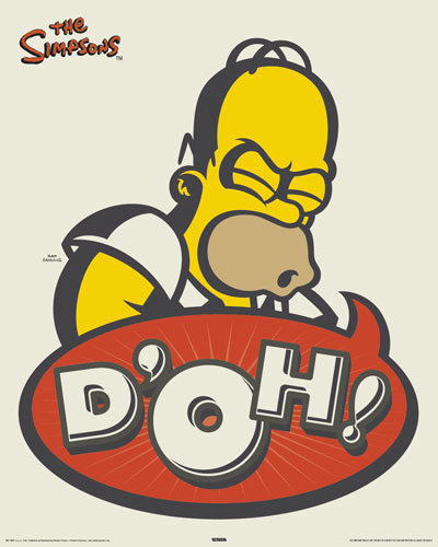 Simpson's - Homer D'OH!!! - Mini Paper Poster