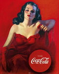 Coca Cola - Red Dress - Mini Paper Poster