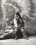 Native American Indian Boy - Proverb - Mini Paper Poster