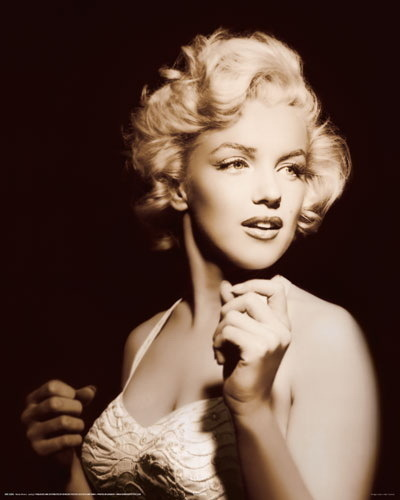 Marilyn Monroe Spotlight Mini Paper Poster