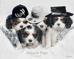 Gangsta Pups - Mini Paper Poster