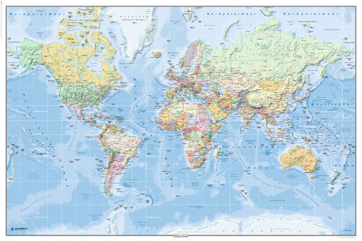 World political map in german language maxi paper poster world political map in german language maxi paper poster gumiabroncs Images