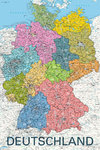 Deutschland - Germany Map in GERMAN Language - Maxi Paper Poster