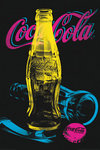 Coca Cola  Black Light  - Maxi Paper Poster
