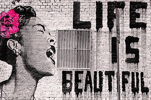 Banksy - Life is Beautiful - Mini Paper  Poster