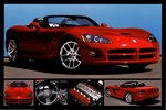Dodge Viper SRT-10 Red Sportd Car 5 pics H Maxi Paper Poster