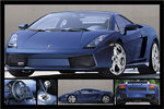 Lamborghini Gallardo Blue Sports Car 5 pics Maxi Paper Poster