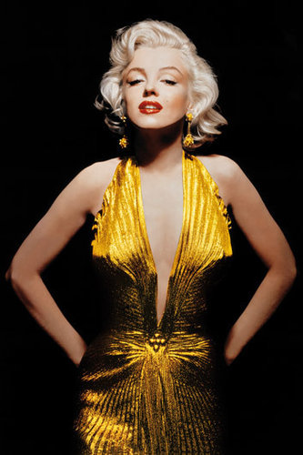 Marilyn Monroe Gold Dress Maxi Paper Poster