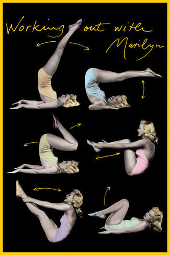 Marilyn Monroe Working Out Maxi Paper Poster