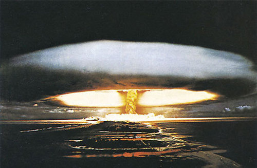 Hydrogen Atomic Bomb Explosion Maxi Paper Poster