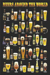 Beers Around the World Maxi Paper Poster