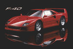 Ferrari F-40 Red Sports Car H Maxi Paper Poster