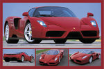 Ferrari Tribute to Enzo Red Sports Car  4 pics H Maxi Paper Poster