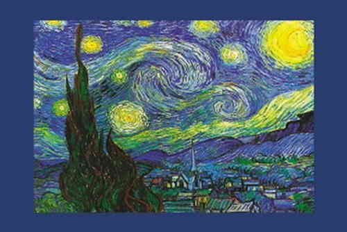 Vincent Van Gogh - Starry Night Steeple - Maxi Paper Poster