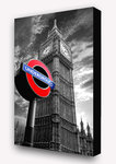 London Big Ben Underground Sign - Block Mounted