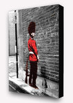 Banksy Queens Guard Pissing - Block Mounted