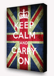 Keep Calm Union Jack - Block Mounted