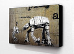 Banksy I am Your Father Robot - Block Mounted