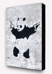 Banksy Panda Guns - Block Mounted