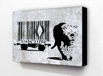 Banksy Tiger Barcode - Block Mounted